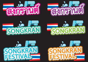 Songkran Titles - бесплатный vector #397983