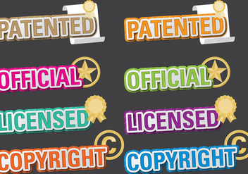 Patented Titles - vector gratuit #398013