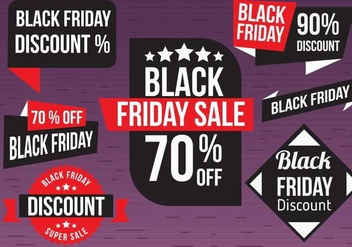 Free Black Friday Vector Labels - бесплатный vector #398133