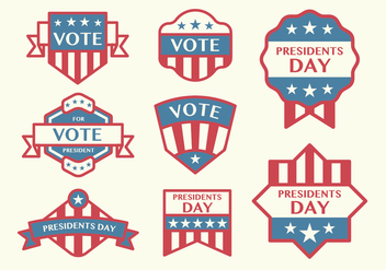 Election Badge Vectors - vector gratuit #398193