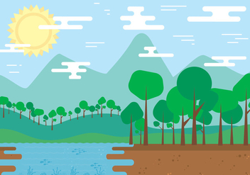 Free Nature Landscape Vector - бесплатный vector #398223