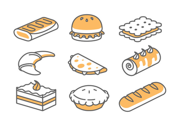 Bakery / Cake Icons - Free vector #398263