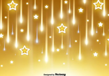 Vector Falling Stars And Comets Background - бесплатный vector #398293