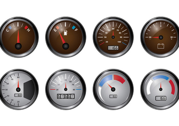 Set Of Tachometer Vectors - vector #398393 gratis