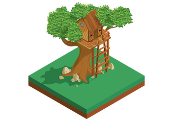Tree House Vector - vector #398423 gratis