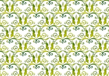 Olive Green Vector Watercolor Royal Background - vector gratuit #398473