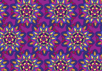Free Vector Colorful Mandala Pattern - Kostenloses vector #398483