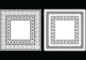 Square Doily Vectors - бесплатный vector #398503