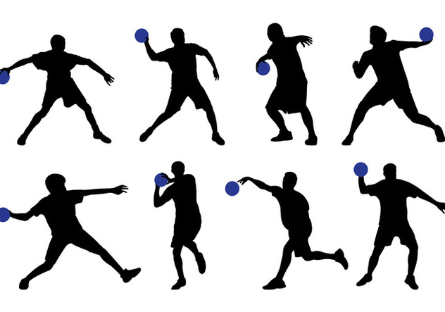 Silhouette Of Dodge Ball Player - Free vector #398513