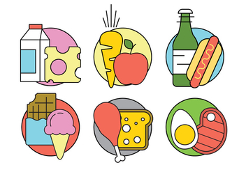 Free Vector Food Icons - Kostenloses vector #398523
