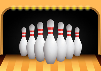 Bowling Alley Vector - бесплатный vector #398533