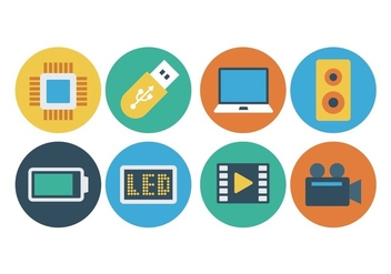 Free Flat Technology Icons - vector gratuit #398573