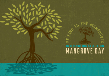 Free International Mangrove Action Day Vector Poster - бесплатный vector #398623