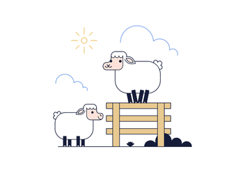 Free Sheep Vector - vector #398653 gratis