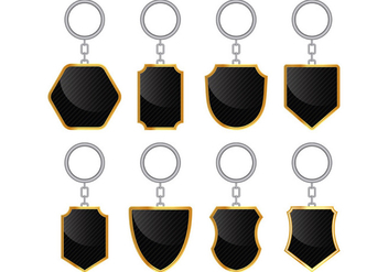Set Of Key Holder Vectors - vector gratuit #398783