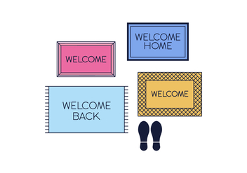 Free Welcome Mat Vector - vector gratuit #398803