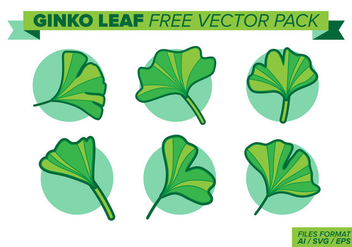 Ginko Leaf Free Vector Pack - Kostenloses vector #398833