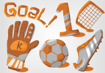 Goal Keeper Vector Set - vector gratuit #398873