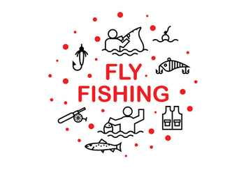 Fly Fshing Icon Vectors - Free vector #398883