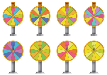 Spinning Wheel Vectors - vector gratuit #398893
