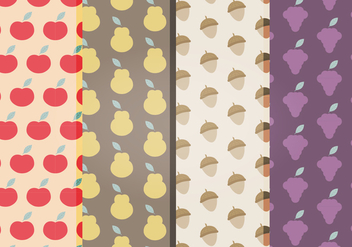 Vector Fruits Patterns - Free vector #398913