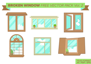 Broken Window Free Vector Pack Vol. 2 - vector gratuit #398973