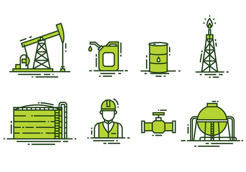 Oil FIeld Vector - Free vector #398983