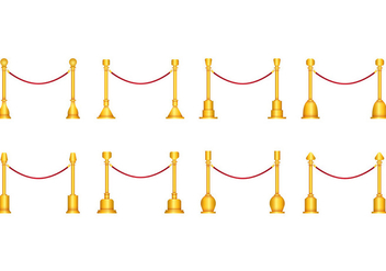 Vector Of Velvet Rope - vector gratuit #399033