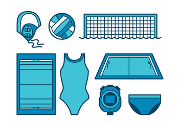 Water Polo Icon - vector #399043 gratis