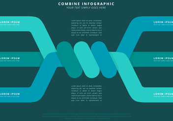 Combining Power Infographic Template - vector gratuit #399063