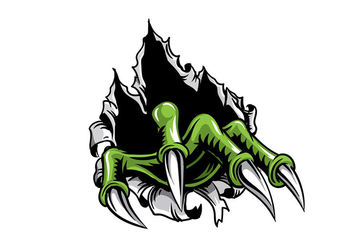 Metal Tear Monster Claw - vector gratuit #399083