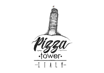 Free Pizza Tower Watercolor Vector - vector gratuit #399183