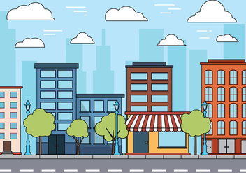 Free Cityscape Vector - Free vector #399193