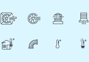 Hvac Icons - vector #399253 gratis