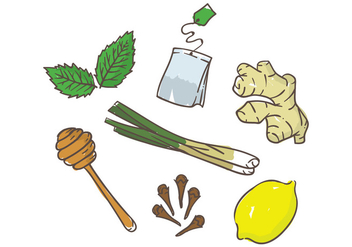 Tea Ingredients - vector #399283 gratis