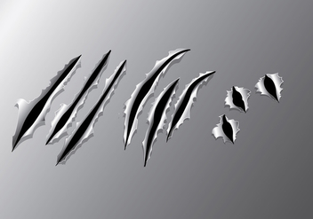Metal Tear Vector - Free vector #399303