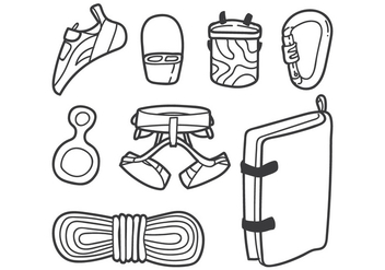 Climbing Wall Gear - vector gratuit #399313
