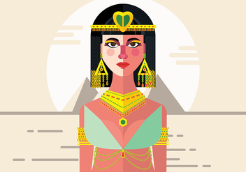 Cleopatra Vector Background - Kostenloses vector #399343
