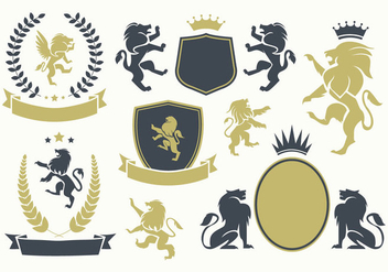 Free Lion Rampant Vector - Free vector #399393