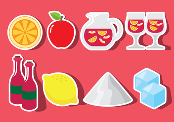 Sangria Icons - Free vector #399423