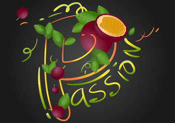 Passion Fruit Vector Illustration - Kostenloses vector #399443