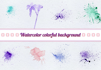 Free Vector Watercolor Splashes - vector gratuit #399453