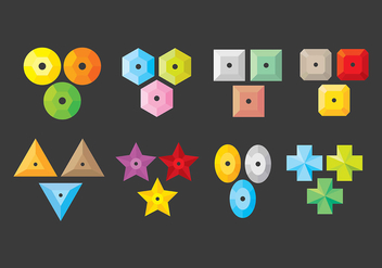 Sequin Icons - Free vector #399503