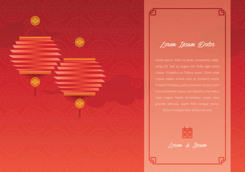 Chinese Wedding Template Illustration - vector gratuit #399633