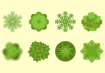 Free Tree Tops Vector - бесплатный vector #399703