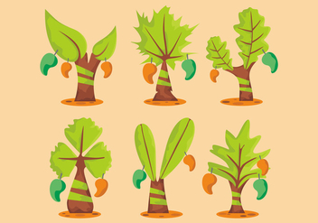 Mango Tree Vector Set - бесплатный vector #399713