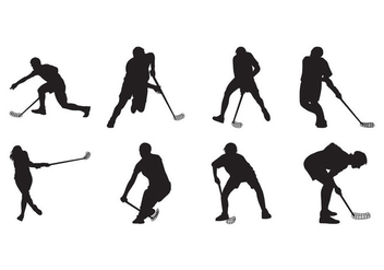 Free Floorball Silhouette Vector - Free vector #399723