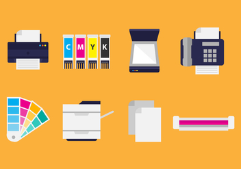 Free Flat Printing Icons - Free vector #399743