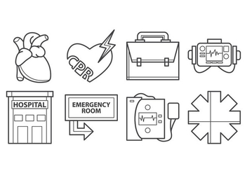 Free Cardiopulmonary Resuscitation Icon Vector - бесплатный vector #399753