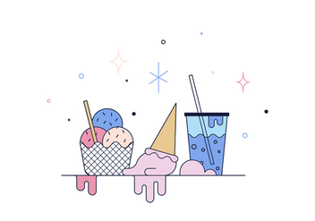 Free Ice Cream Vector - бесплатный vector #399763